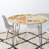 83 Oranges Geometric Abstraction Dining Table by East Urban Home