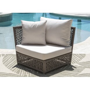 Maldives Corner Patio Chair with Sunbrella Cushions