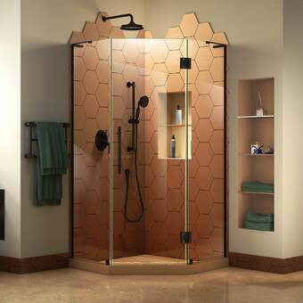 Aston Neoscape Gs 38 X 72 Neo Angle Hinged Shower Enclosure Reviews Wayfair