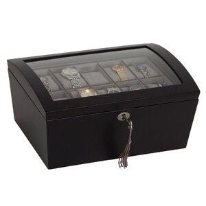 Locking Glass Top Watch Box