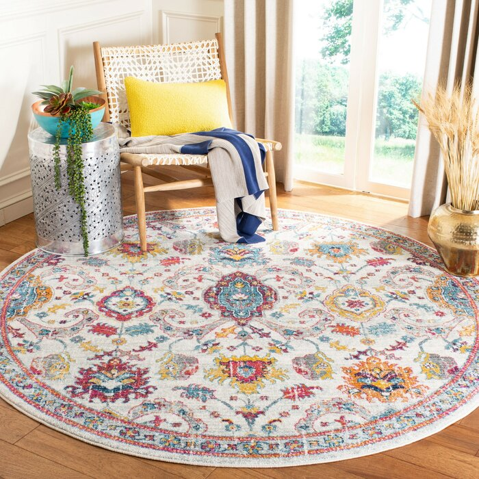 Ameesha Beige Red Area Rug