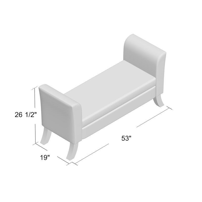 Byram Faux Leather Storage Bench