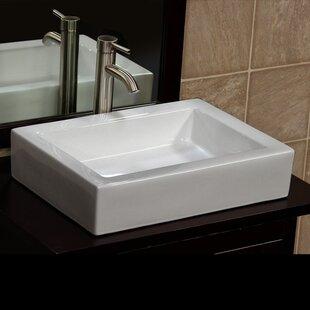 Reviews Ceramic Rectangular Vessel Bathroom Sink By Vanitesse