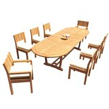 Shiey 9 Piece Teak Dining Set