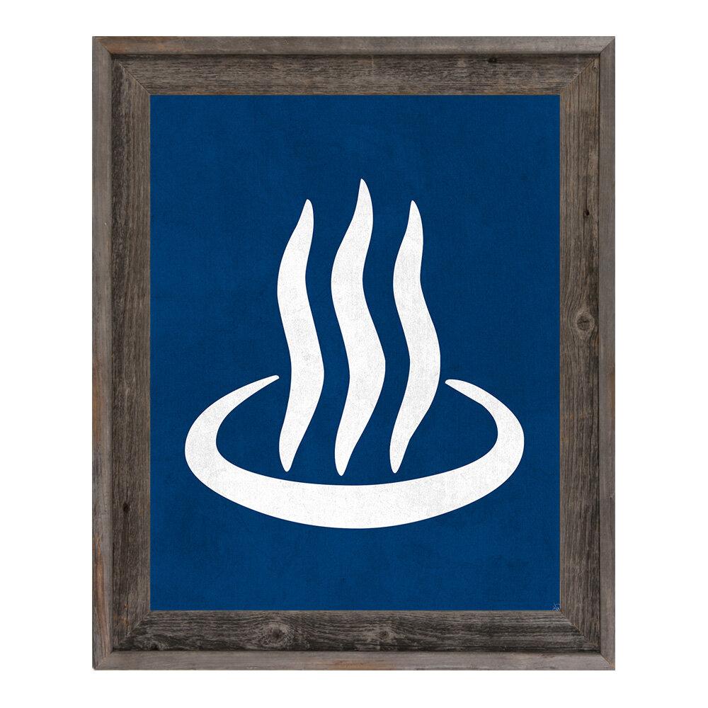 Click Wall Art Onsen Framed Graphic Art On Canvas In Blue Wayfair