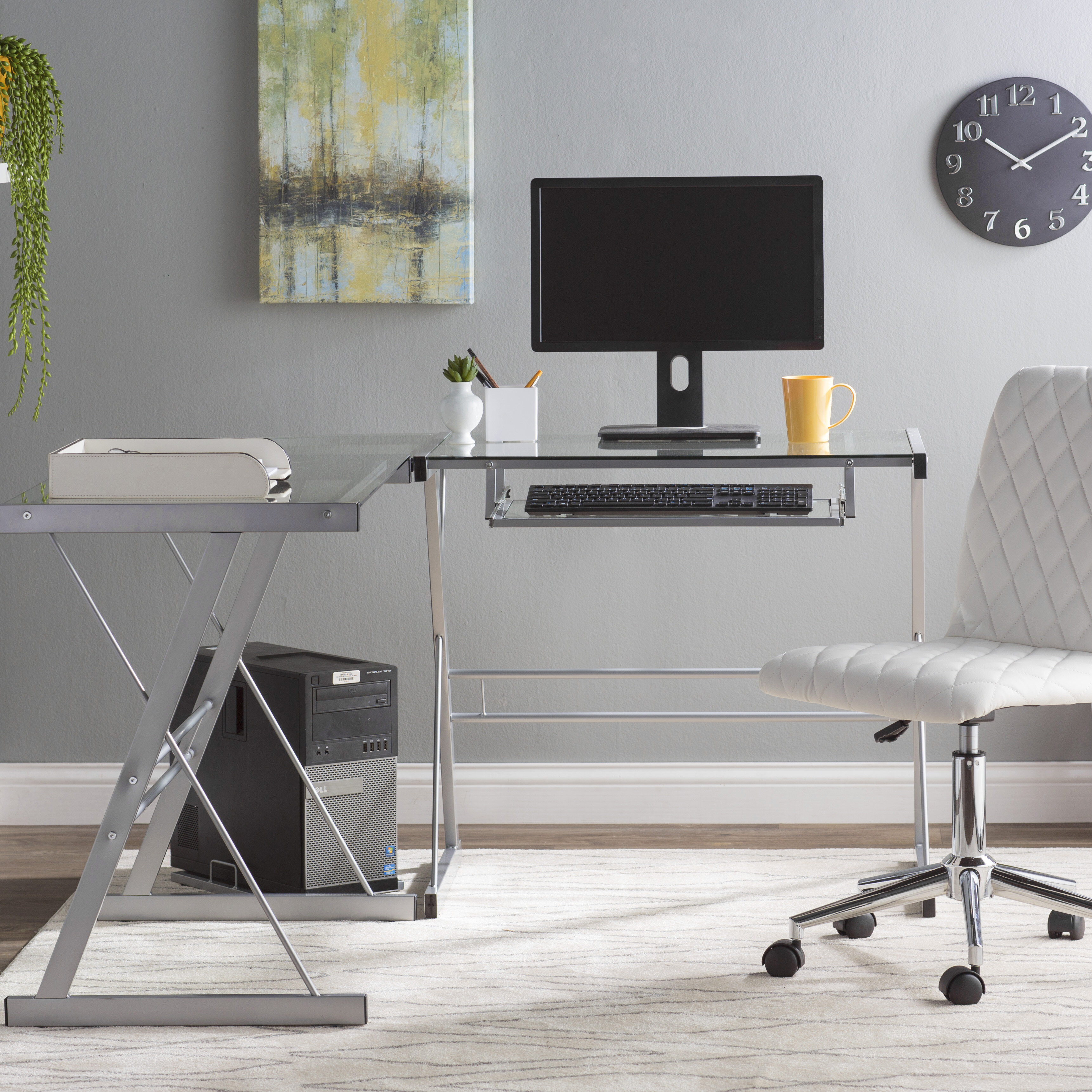Glass L Shaped Desks You Ll Love In 2020