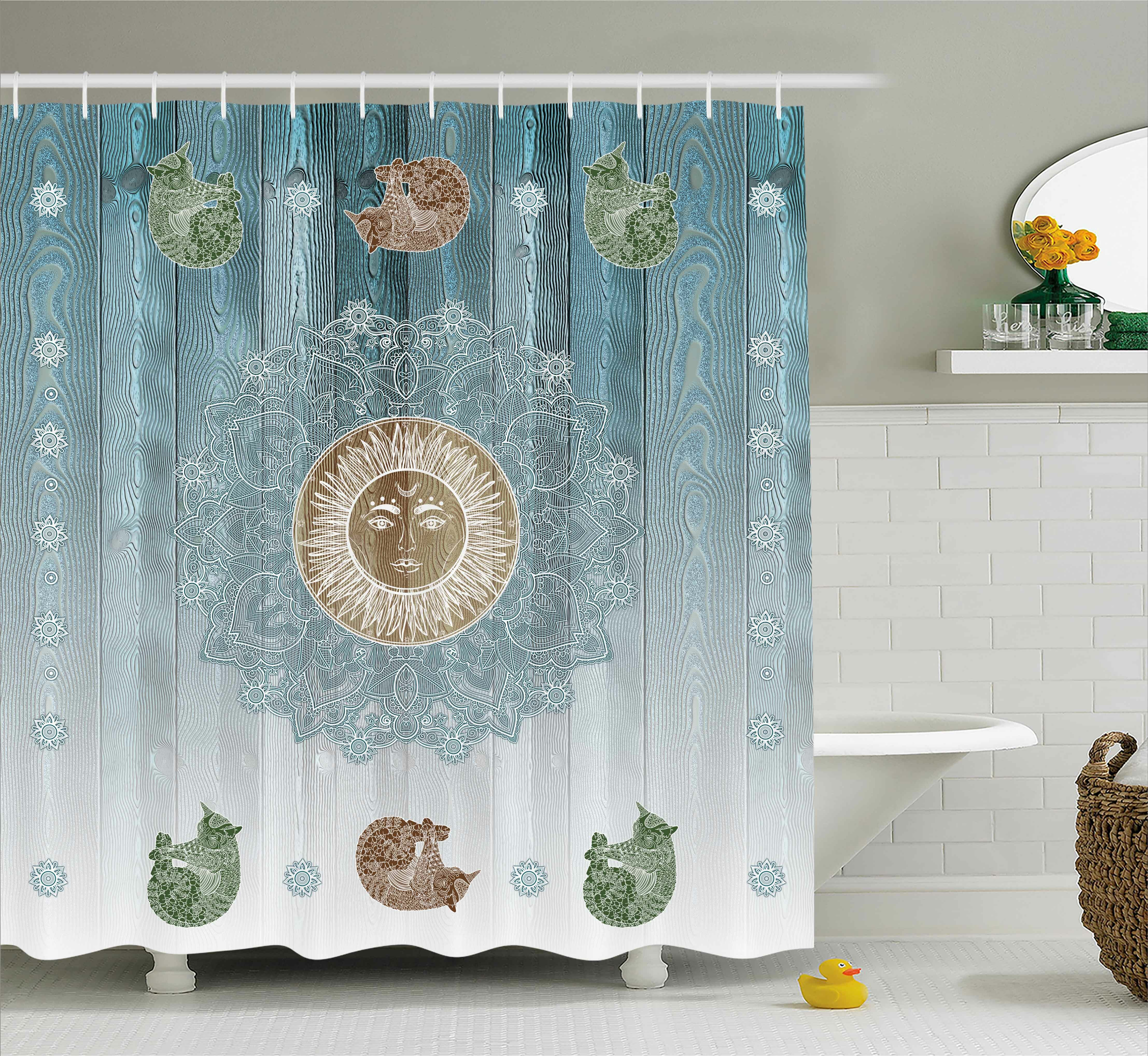 Bloomsbury Market Beecroft Totem Zen Boho Sun Cats Shower Curtain