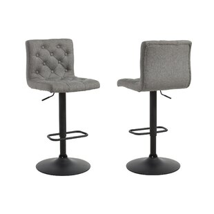 Witney Adjustable Height Swivel Bar Stool (Set of 2)