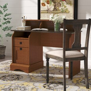 Barker 2 Drawer Secretary Desk With Hutch by Charlton Home Best #1
