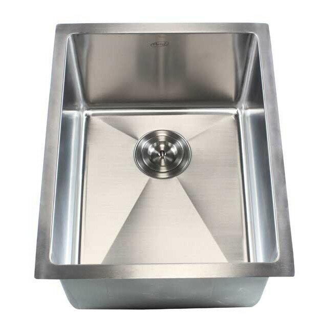 ariel 16   x 20   single bowl undermount kitchen sink emodern decor ariel 16   x 20   single bowl undermount kitchen sink      rh   wayfair com