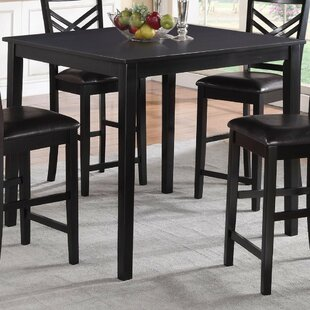 Parmelee Wooden Counter Height Dining Table Winston Porter