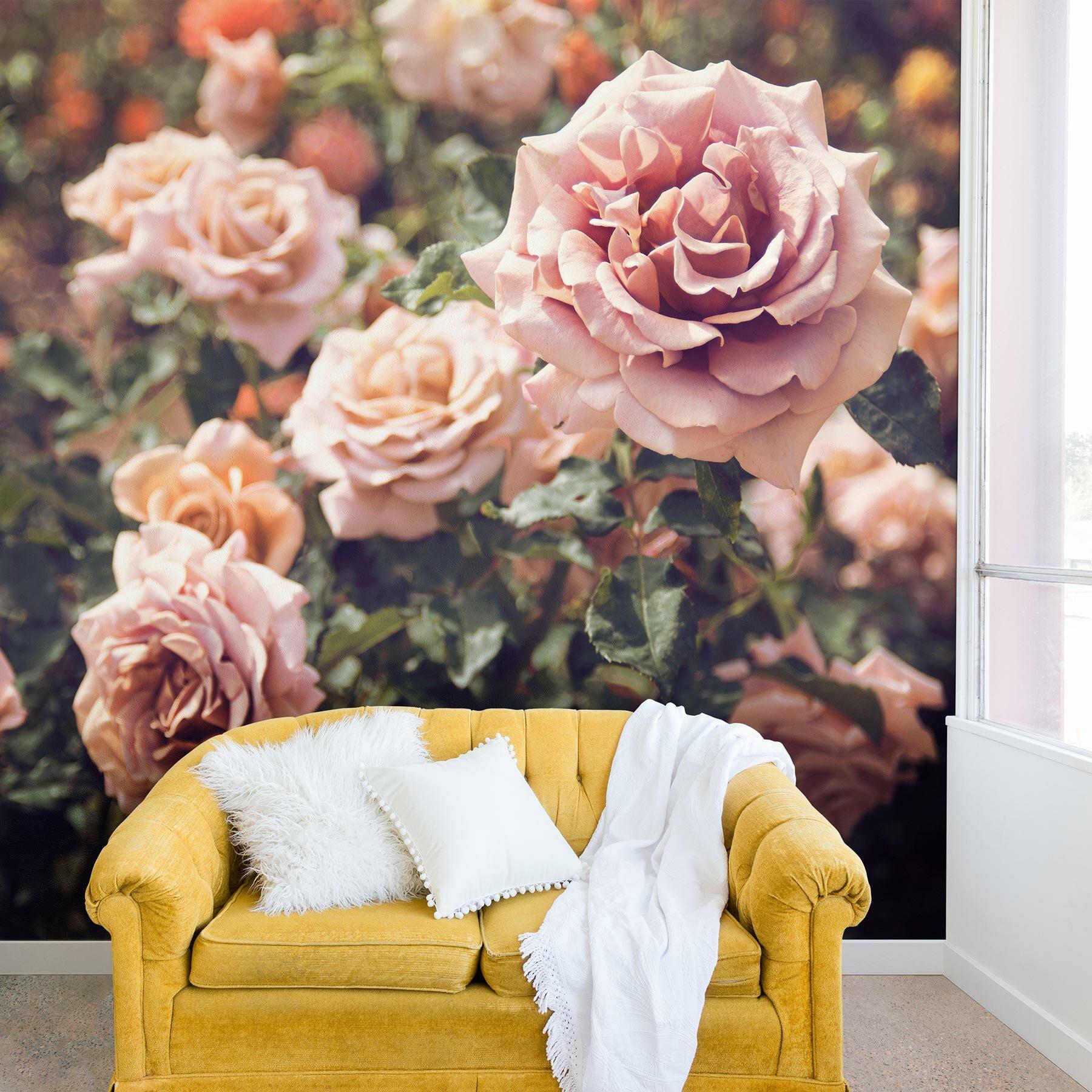 East Urban Home Bree Madden Rose Wall Mural Wayfair