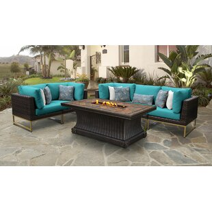 Barcelona Outdoor 6 Piece Sectional Seating Group with Cushions by TK Classics