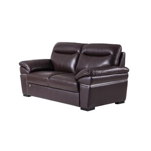 Victor Harbor Leather Loveseat