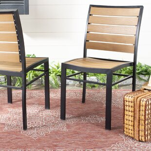 Gertrudes Stacking Patio Dining Chair (Set of 2)