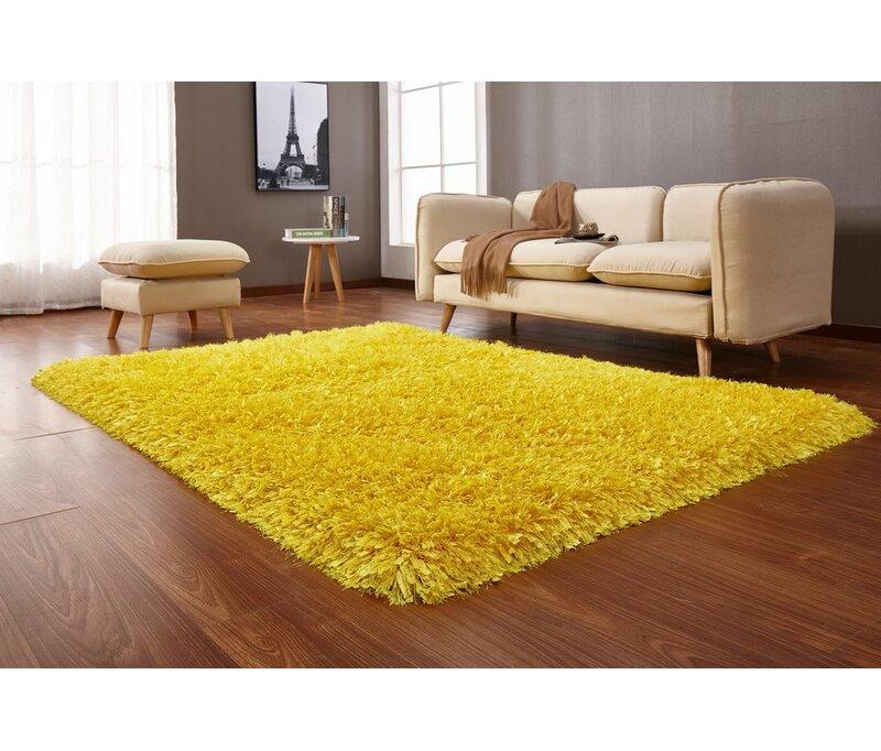 Red Barrel Studio® Keturah Vibrant Hand Tufted Yellow Area Rug