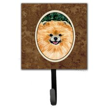 Pomeranian Leash Holder and Wall Hook by Caroline's Treasures
