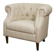 Luna Fabric Tufted Chesterfield Chair by New Pacific Direct