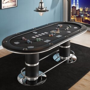 10 Piece 96″ Players Texas Hold'em Poker Table Set