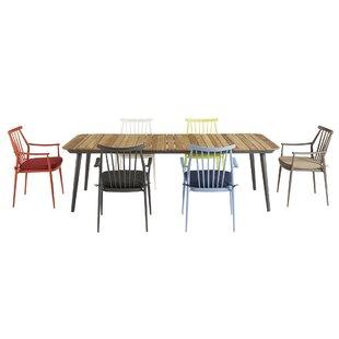 Asphodele Outdoor Recycle Teak 7 Piece Dining Set