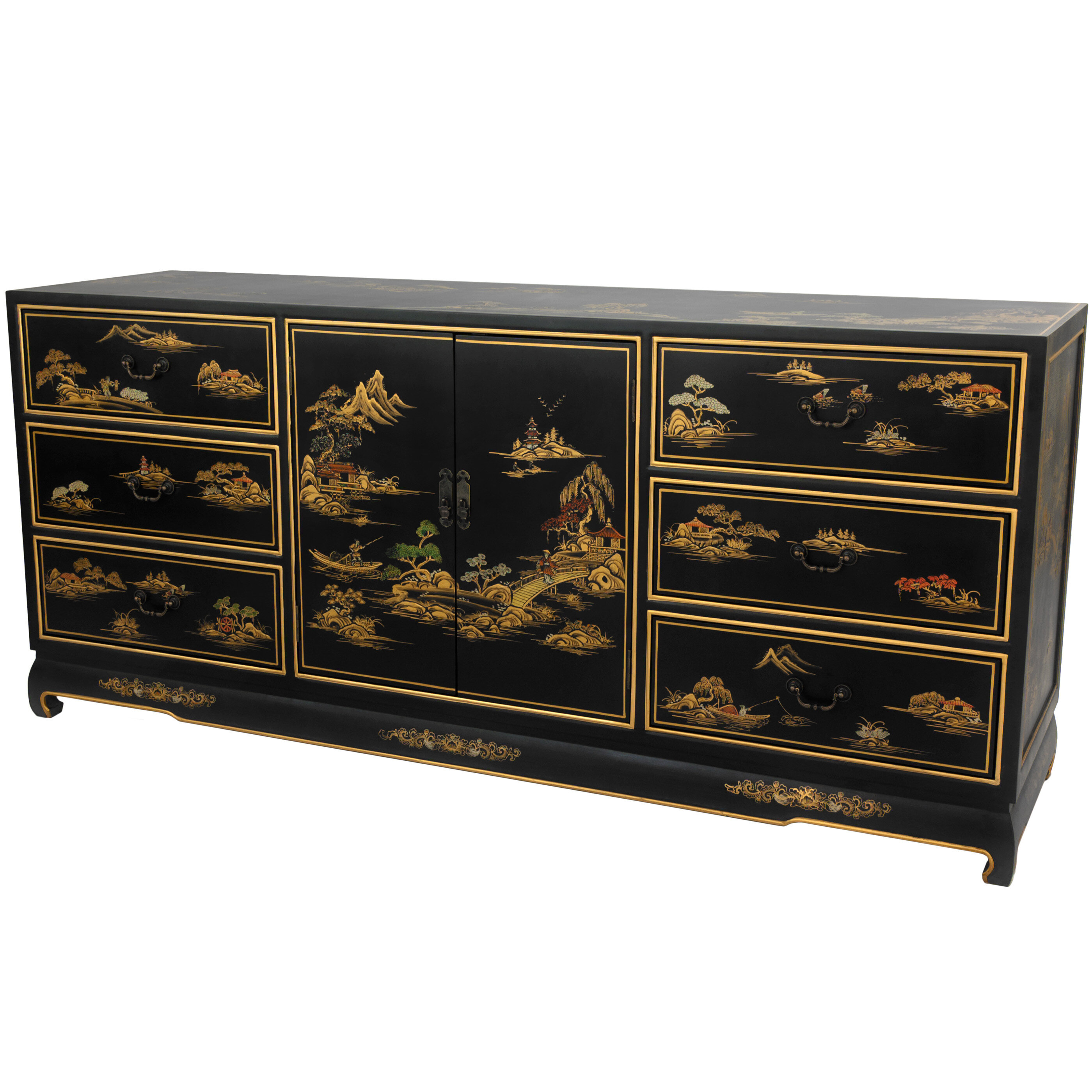 black drawer lorraine double keyword accessories wayfair lacquer dresser
