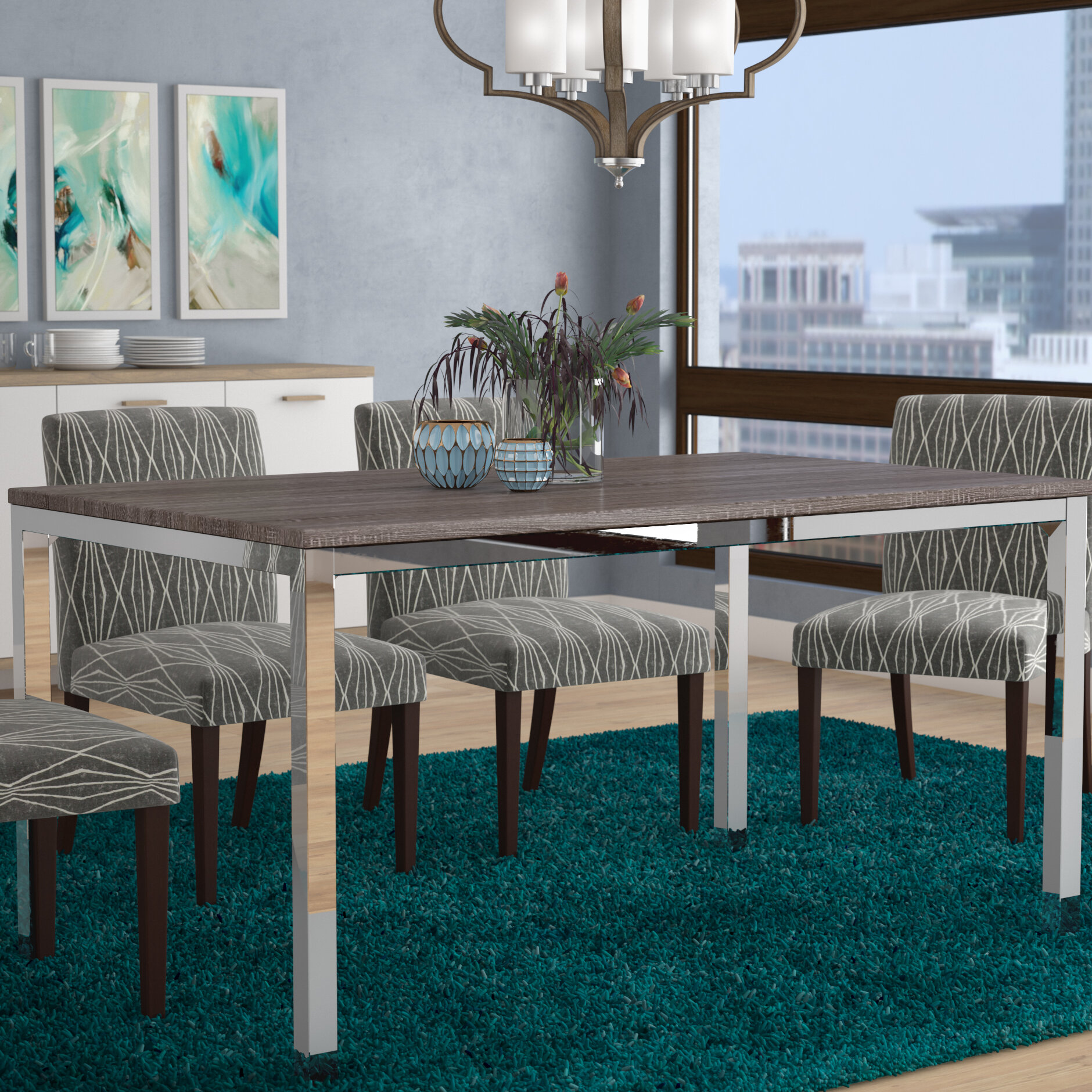 Wrought Studio Derouen Dining Table & Reviews | Wayfair