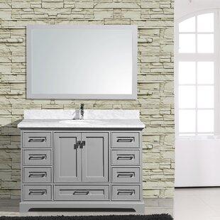 Frieda 48 Single Bathroom Vanity with Mirror by Gracie Oaks