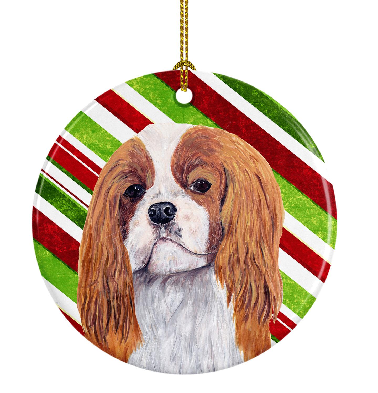The Holiday Aisle Cavalier Spaniel Holiday Christmas Ceramic Hanging Figurine Ornament Wayfair