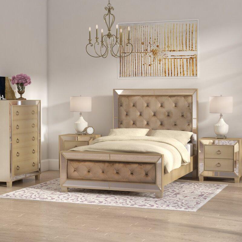 furniture l in bling piece set sanctuary tufted sets bed hooker bedroom htm