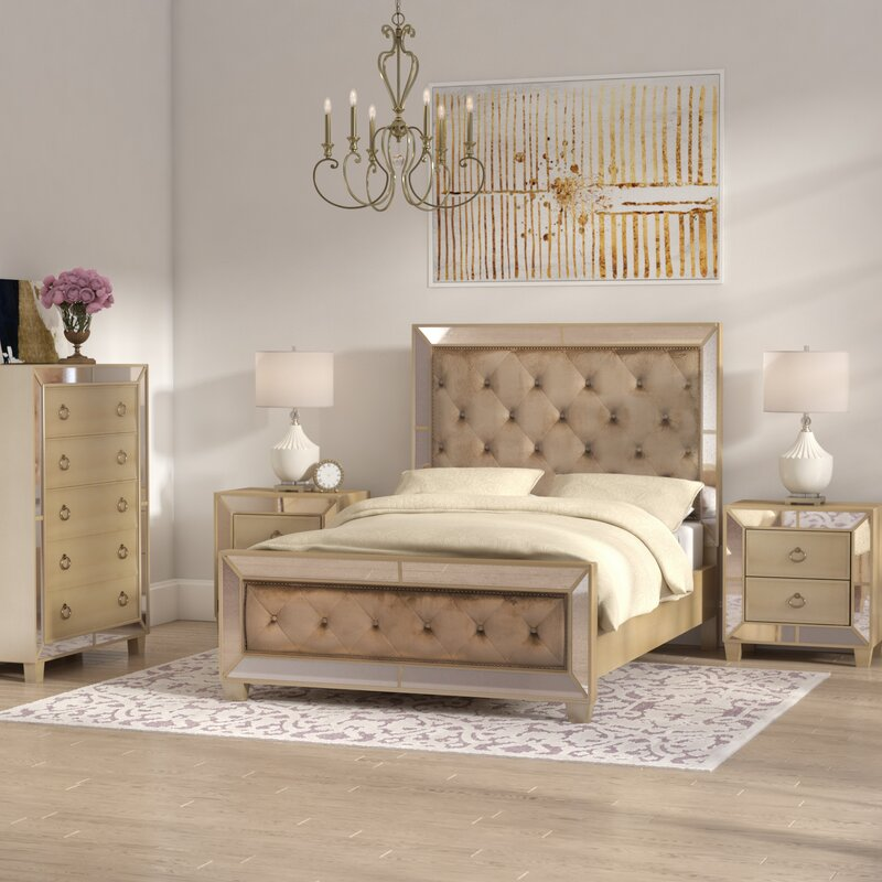 bedroom furniture set queen platform collection contemporary pc collections belcourt cherry