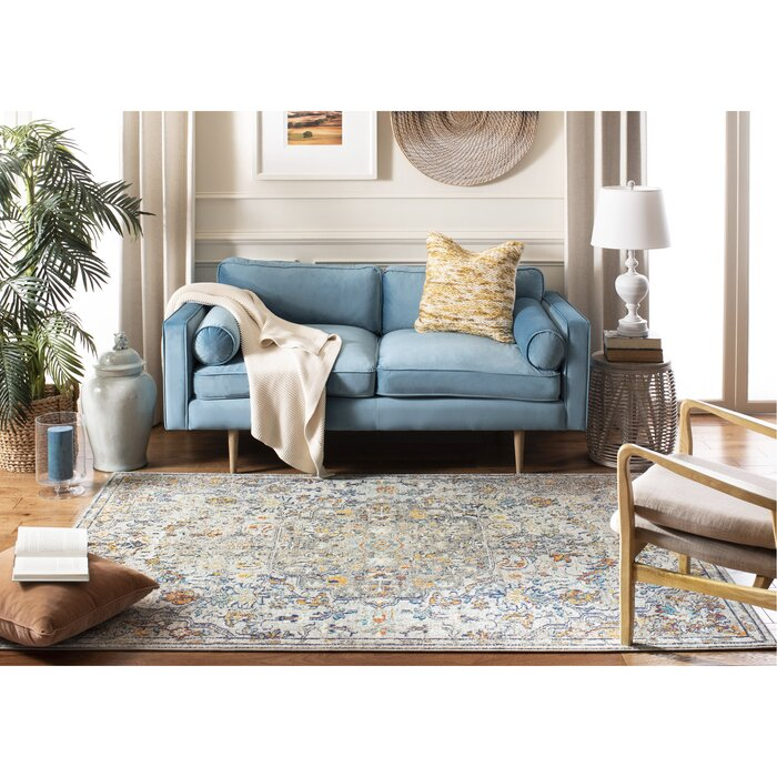 Awe Inspiring Gutierez Gray Light Blue Orange Area Rug Cjindustries Chair Design For Home Cjindustriesco
