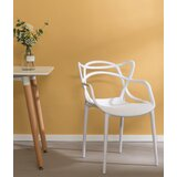 Davida Ladder Back Stacking Arm Chair in White by George Oliver