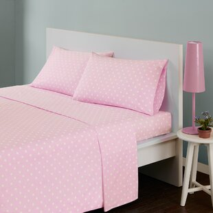 Glaude Polka Dot 180 Thread Count Cotton Sheet Set