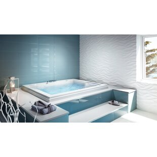 Fuzion Illuma LCD Whisper Left-Hand 72 x 60 Drop-In Salon Bathtub by Jacuzzi®