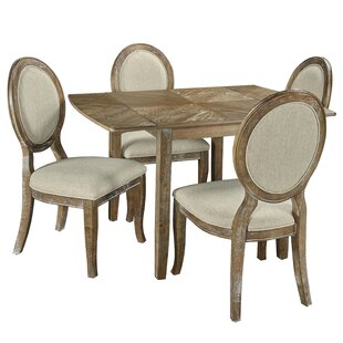 Braun 5 Piece Drop Leaf Dining Set Ophelia & Co.
