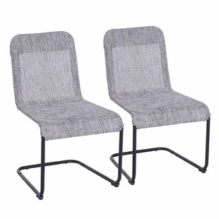 Elmina PVC-coated polyester Patio Dining Chair (Set of 2)