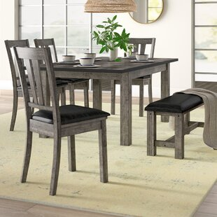 Katarina 6 Piece Extendable Solid Wood Dining Set
