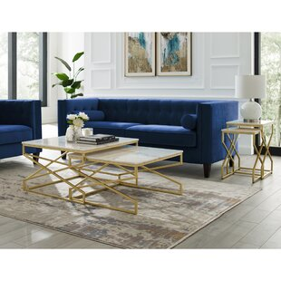 Jayceon Square 2 Piece Coffee Table Set by Everly Quinn