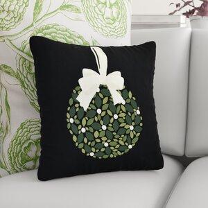 Mistletoe Me Floral Print Outdoor Throw Pillow