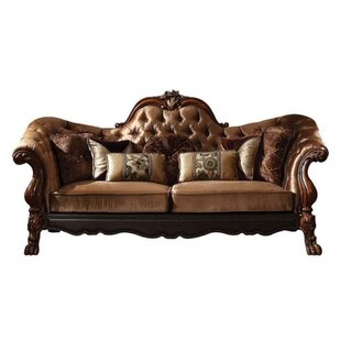 Shop Eugenia Traditional Button Tufted Sofa by Rosdorf Park