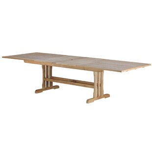 Geneva Teak Rectangular Double Extension Dining Table