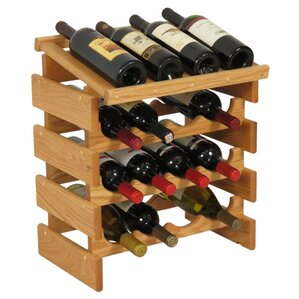 Dakota 16 Bottle Tabletop Wine Rack by Wooden Mallet