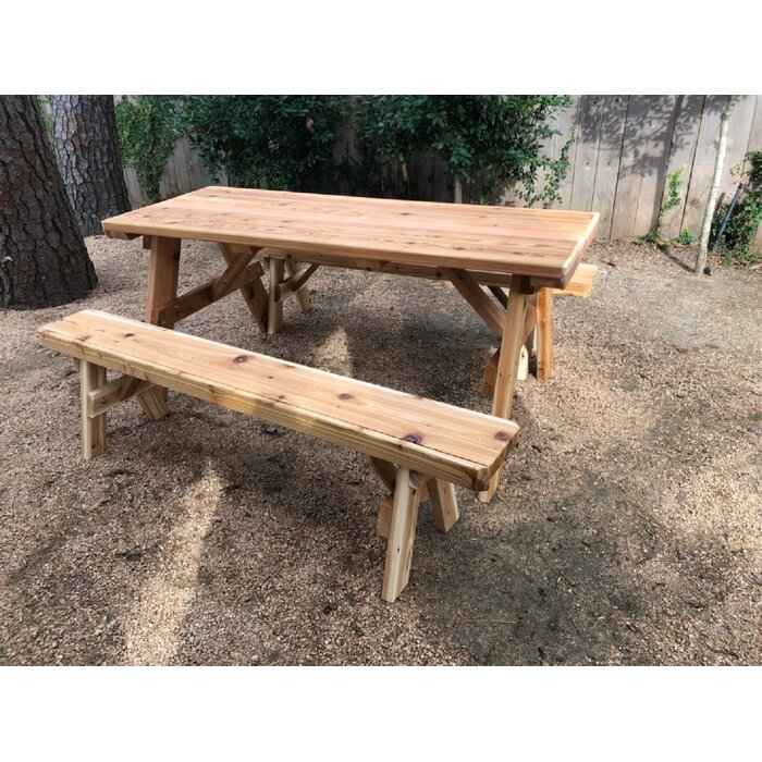Terrific Islais Solid Wood Picnic Table Squirreltailoven Fun Painted Chair Ideas Images Squirreltailovenorg