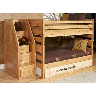 Inexpensive Aldeline Full Over Full Bunk Bed with Stairway Chest by Harriet Bee Reviews (2019) & Buyer's Guide