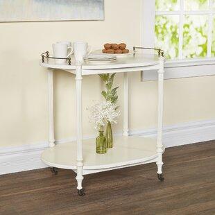 Heisler Kitchen Cart with Wood Top
