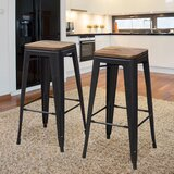 Robbins Solid Wood 30 Bar Stool (Set of 2) by Williston Forge