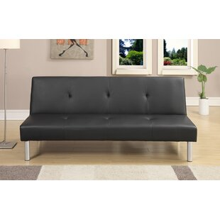 Chea Faux Leather Adjustable Convertible Sofa by Ebern Designs Wonderful