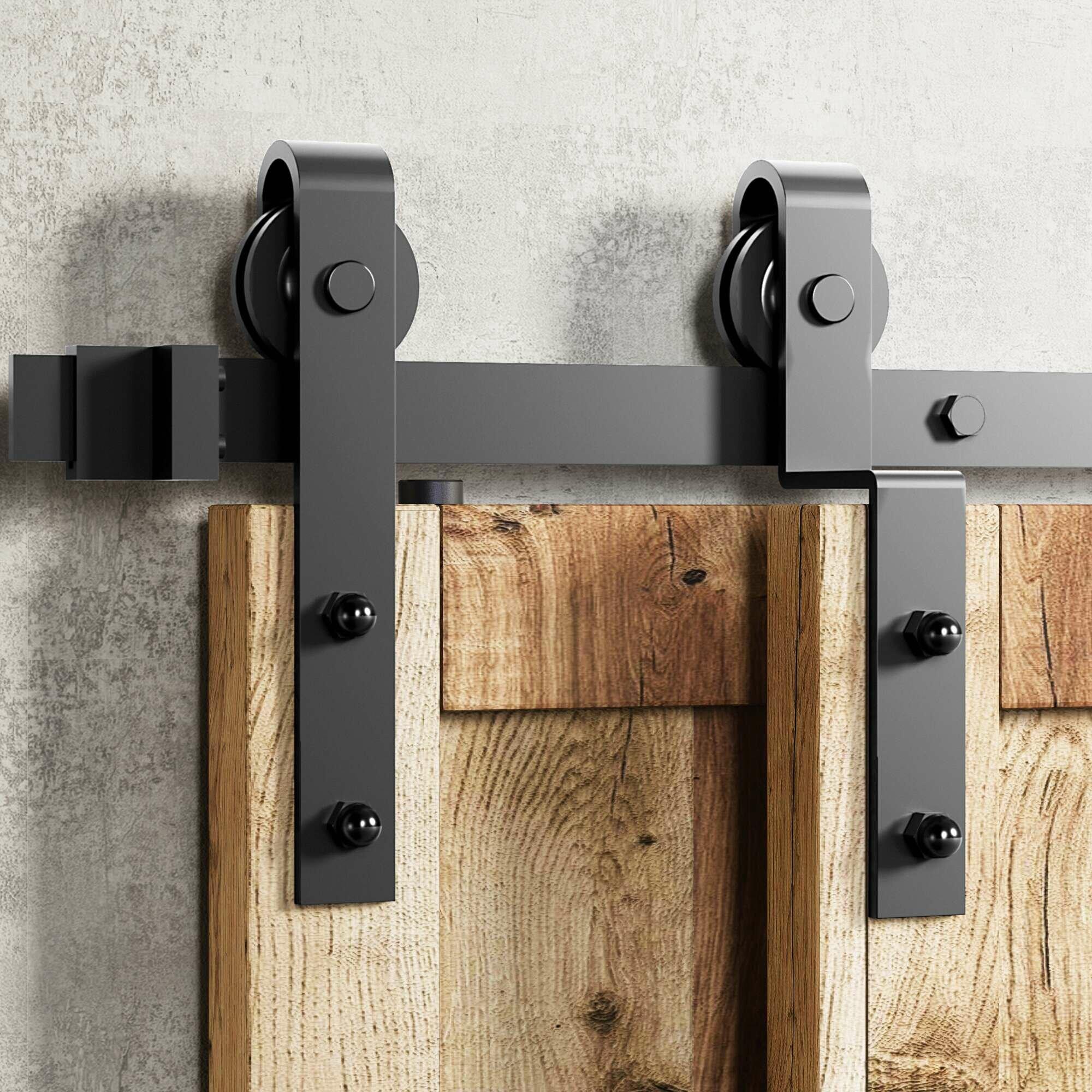 Homacer Classic Design Single Bypass Barn Door Hardware Kit Reviews