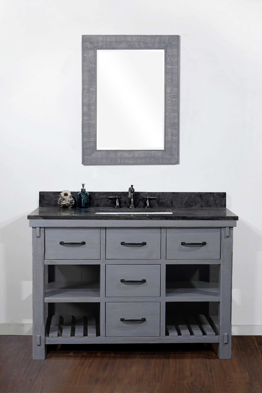 Gracie Oaks Debora Solid Fir 49 Single Bathroom Vanity Set Wayfair