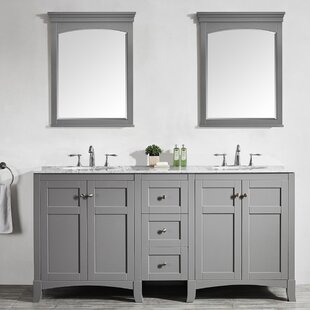 Manningtree 72 Double Vanity Set with Mirrors by Highland Dunes